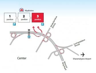 Mapa Crocus Expo Ferias Moscú